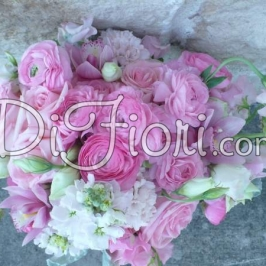 <h3>Our Elegant, Garden Bridal Bouquet for Angela</h3>